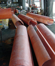 Fiberglass Pile Jackets by MFG Construction and Water Products
