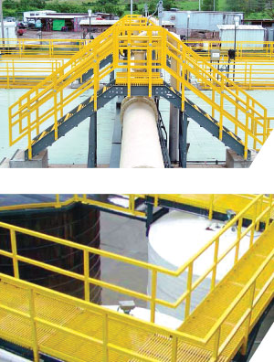 Fiberglass Handrail by MFG Construction and Water Products